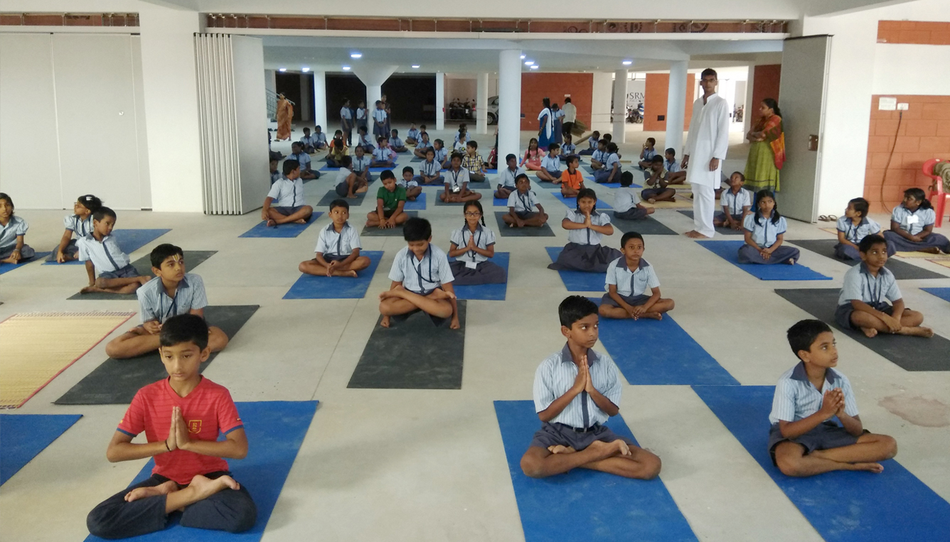 SRM Public School Yoga Day